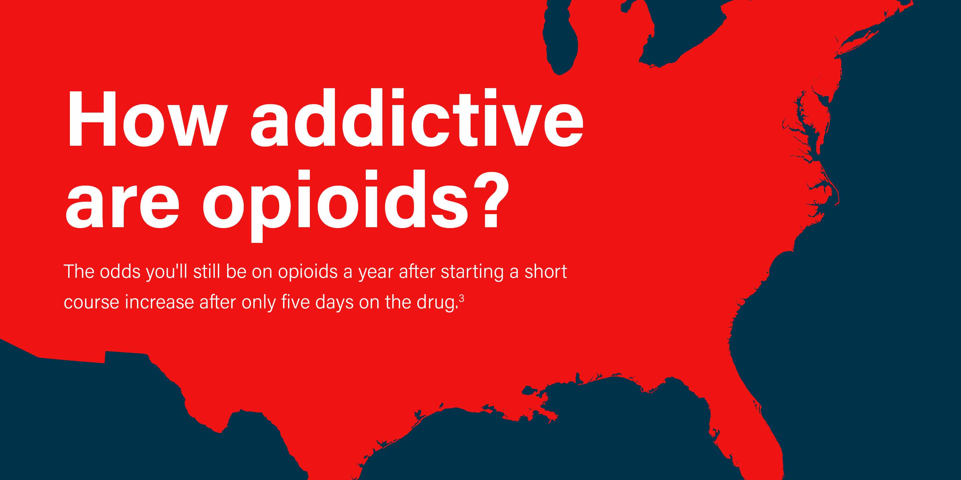 How addictive are opioids? The odds you'll still be on opioids a year after starting a short course increase after only five days on the drug.[3]