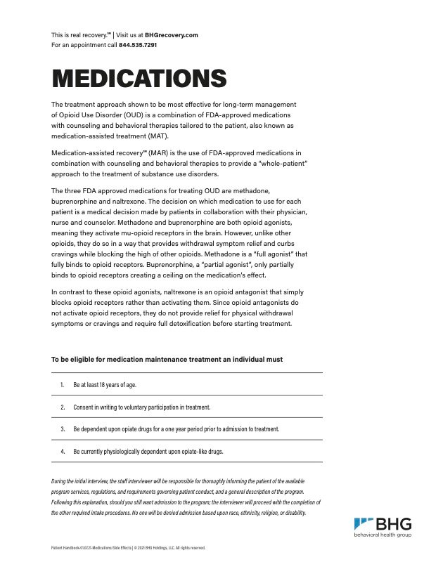 OUD Medication Fact Sheet